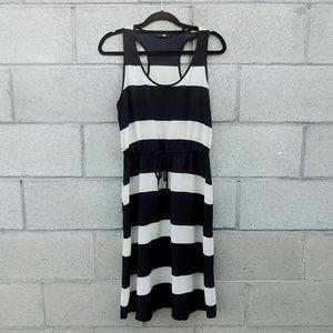 H&M Black & White Striped Racerback Dress
